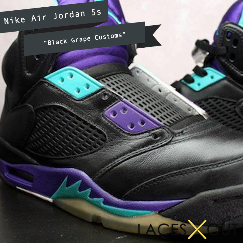 Black Grape Custom 5 Jordans