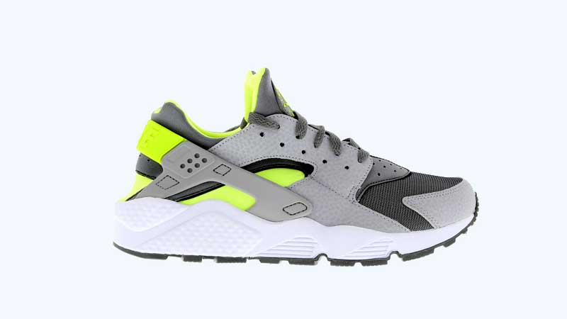 reputable site a9bfa 06859 Nike-Air-Huarache-Cool-Grey-Volt