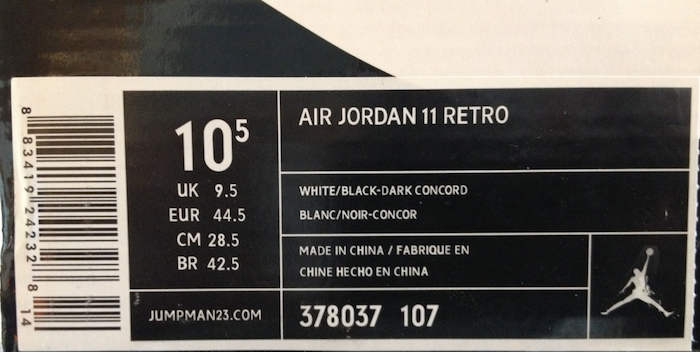 Shoe Size  China