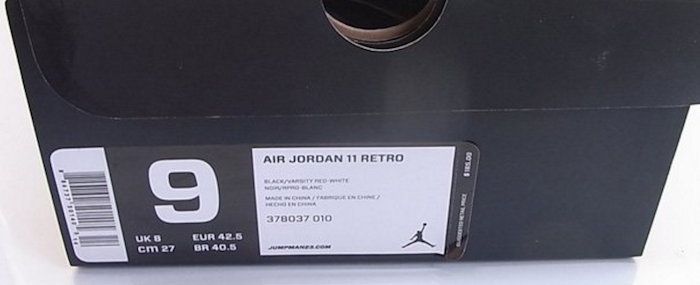 Sneaker Box Label