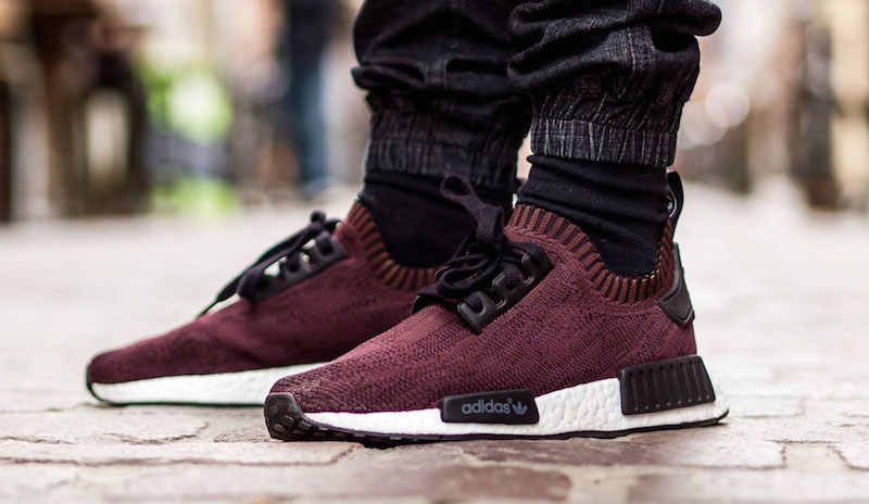 adidas primeknit maroon customs
