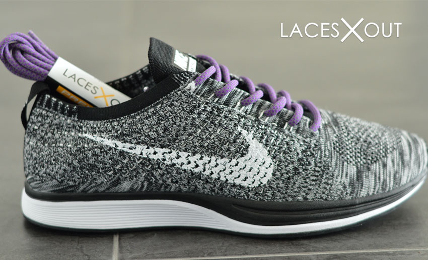 Nike Purple Flyknit Racer Lace Swap