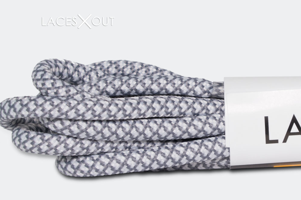 White Grey Rope Shoelaces